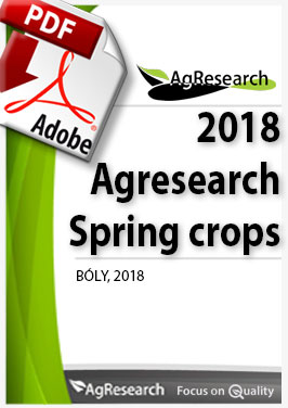 Agresearch 2018 Spring crops - Download our brochure