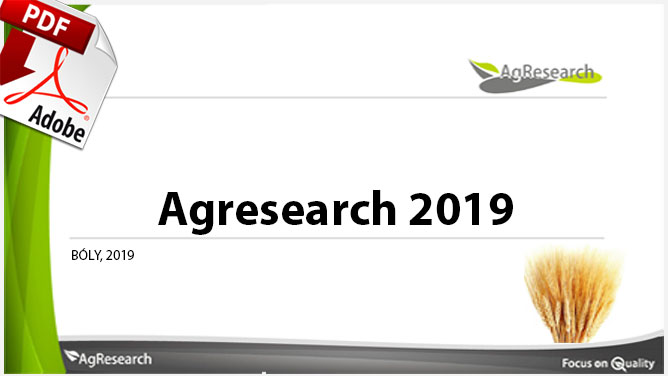 Agresearch 2019 - Download our brochure