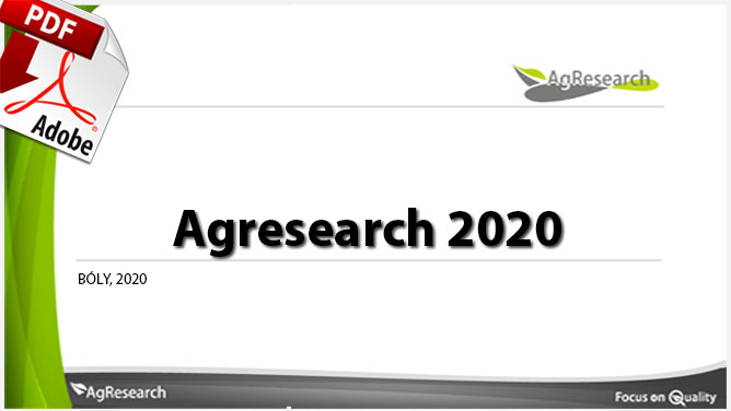 Agresearch 2020 - Download our brochure